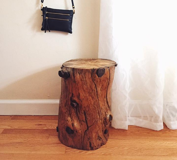 fabriquer des meubles en bois avec un tronc deco