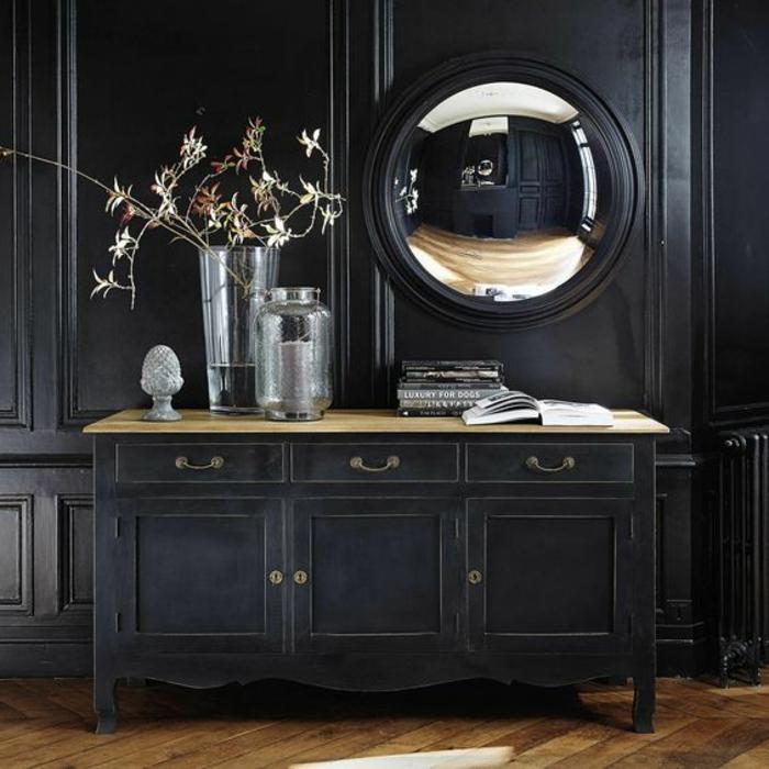 1001 id es pour l 39 ameublement avec le miroir sorci re for Miroir rotin noir