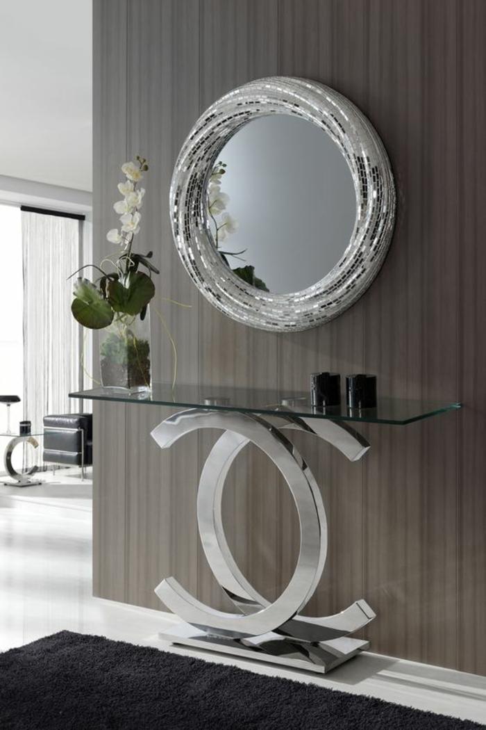 canestrelli venise miroir oeil de sorcière moderne aux mille reflets facettes argentées