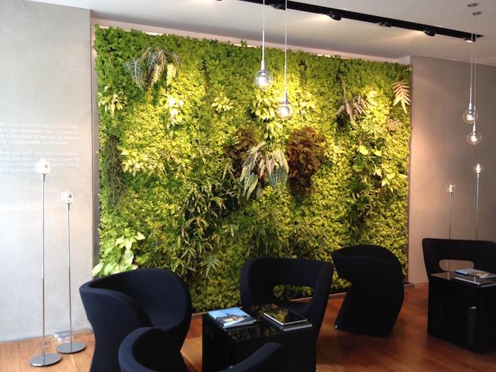 jardinière verticale ou mur végétal interieur comme décoration naturelle