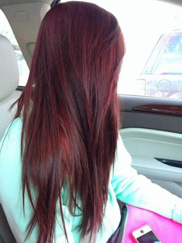 couleur de cheveux ton rouge