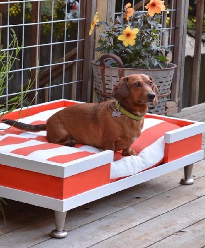 panier pour chiot couffin petit chien diy en bois coussin