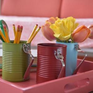 Recyclage boîte de conserve - plein d'idées et tutoriels, isnpirés de la tendance upcycling