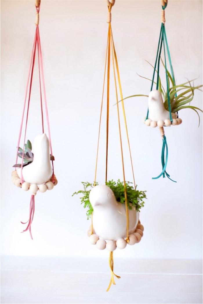 petits supports à pots de fleurs déco suspendus