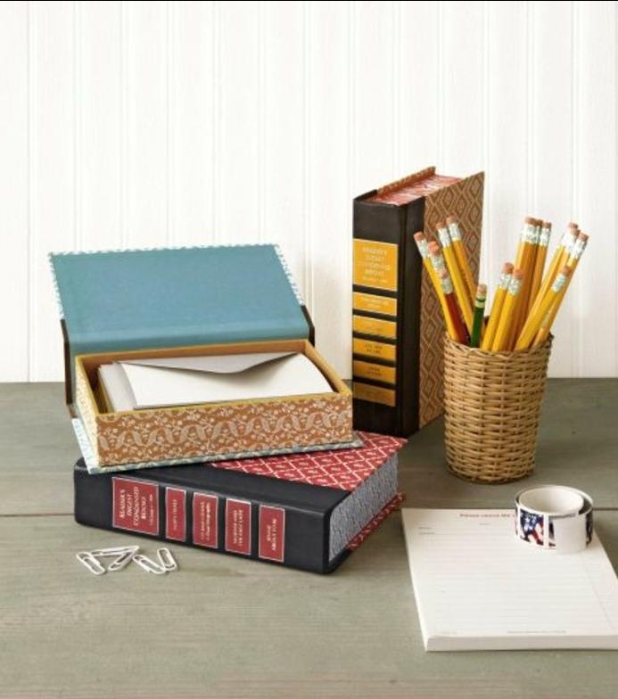 cadeau fête des pères à fabriquer, boite de stockage, lettres, pot à crayons, idee de bricolage interessant