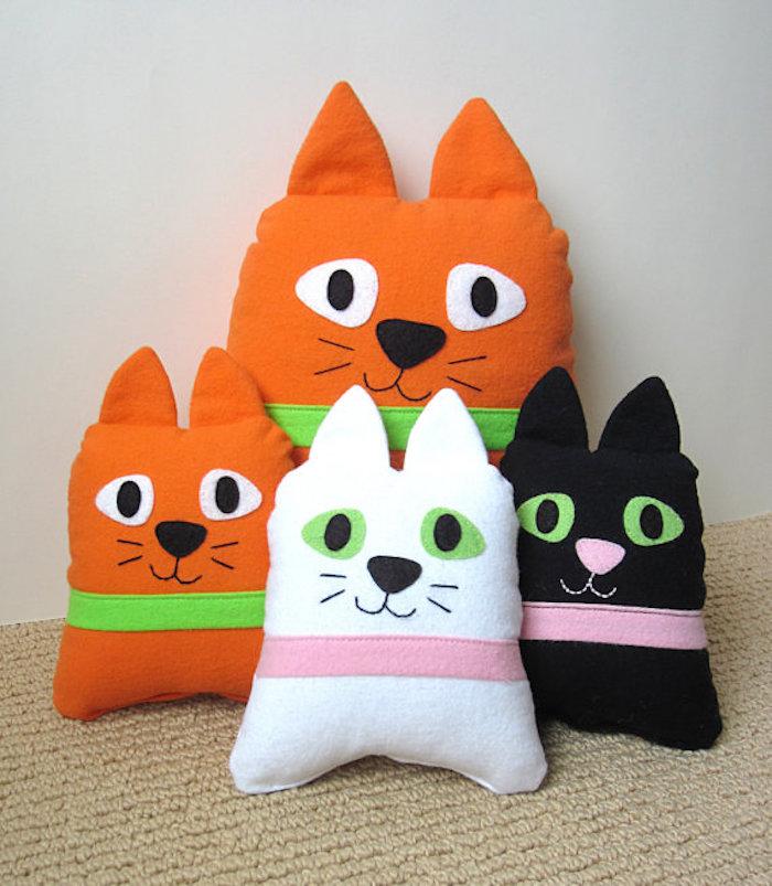 coussins doux tete de chat pour enfants coussin chatons