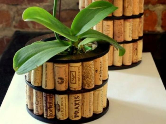 décoration avec des bouchons en liège pour les plantes vertes que faire avec les bouchons en liège