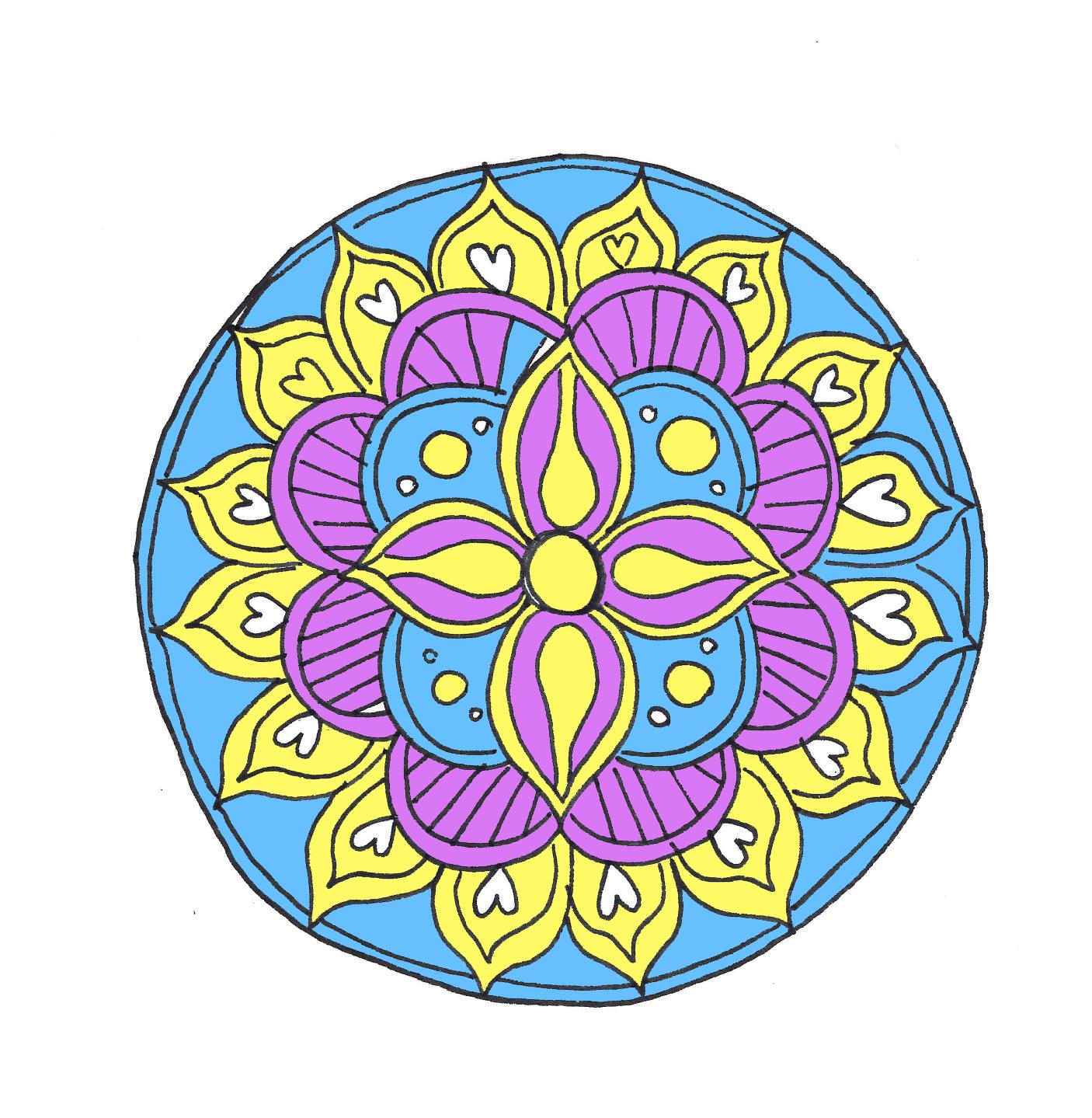 idée madala à colorier, que faire quand on s ennuie, activité créative pour adultes, coloriage, activites manuelles
