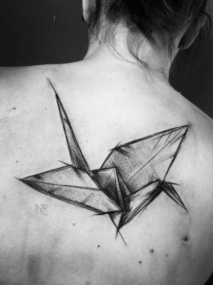 Cool tatouage oiseaux tatouage bras femme belle origami oiseau modèle tatouage