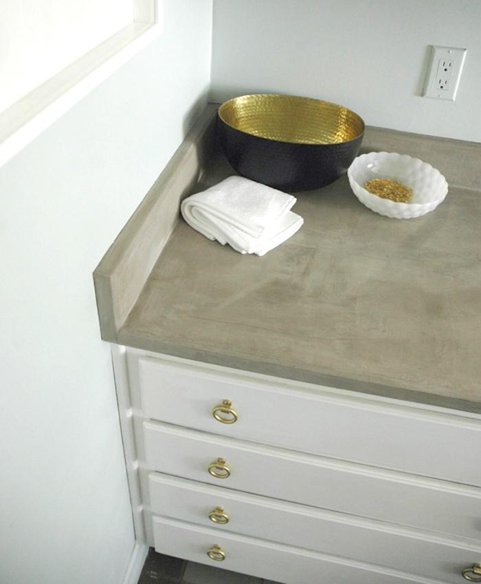 amenagement salle de bain salles eau deco meuble lavabo film sticker effet béton design