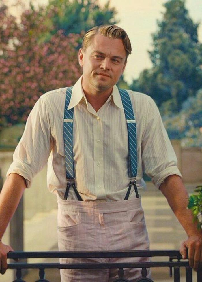 robe années 20, Léonardo Dicaprio dans le film Gatsby le magnifique