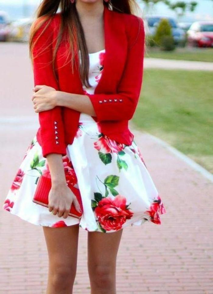 1001 id es pour cr er la meilleure tenue rouge et blanc. Black Bedroom Furniture Sets. Home Design Ideas