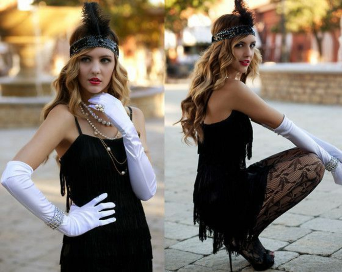 costume gatsby le magnifique stunning great gatsby headpiece champagne feather fascinator. Black Bedroom Furniture Sets. Home Design Ideas