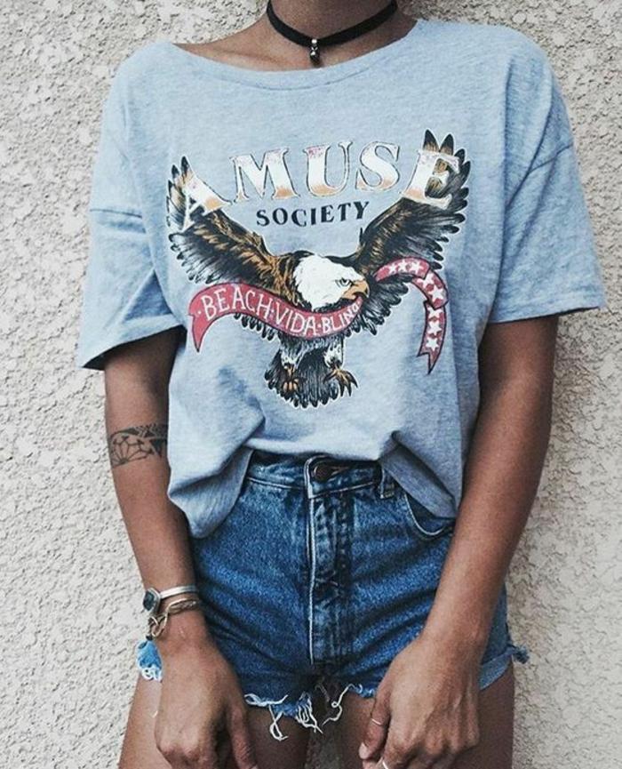 1001 id es de tenue rock femme et astuces comment obtenir le look Tenue swag explication idees originales