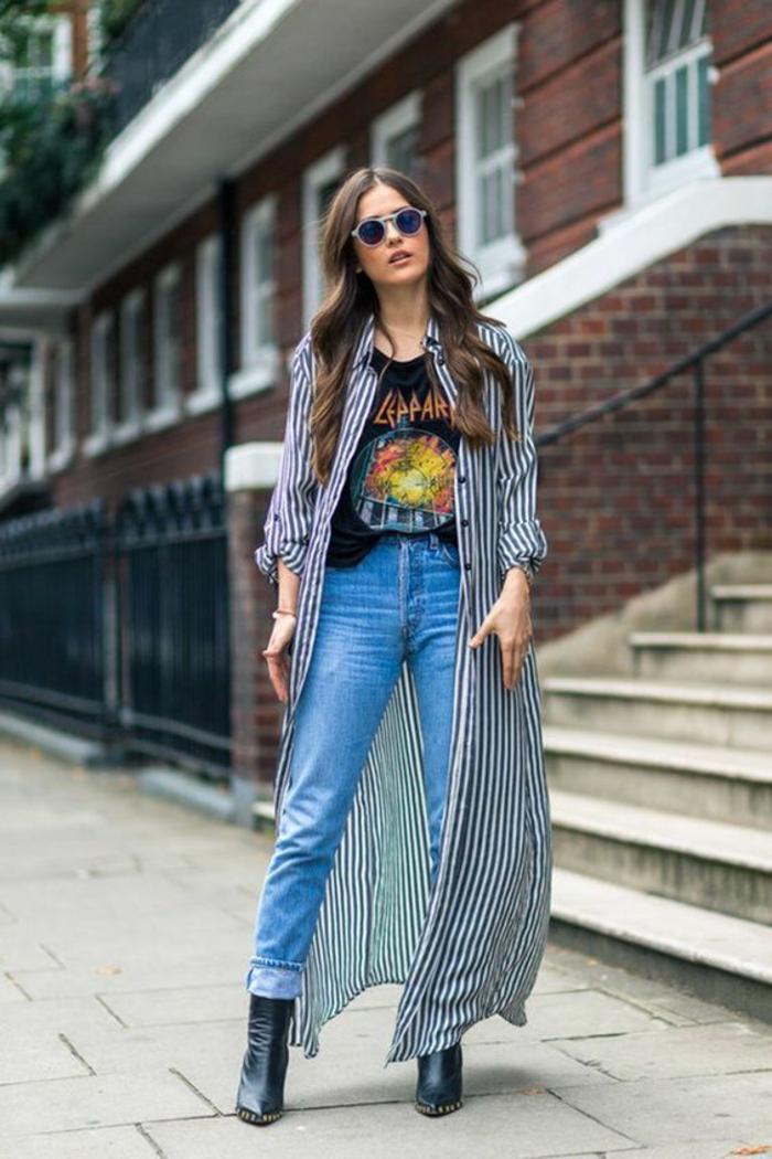 Fringues femme vetement rockabilly femme comment s habiller longue veste
