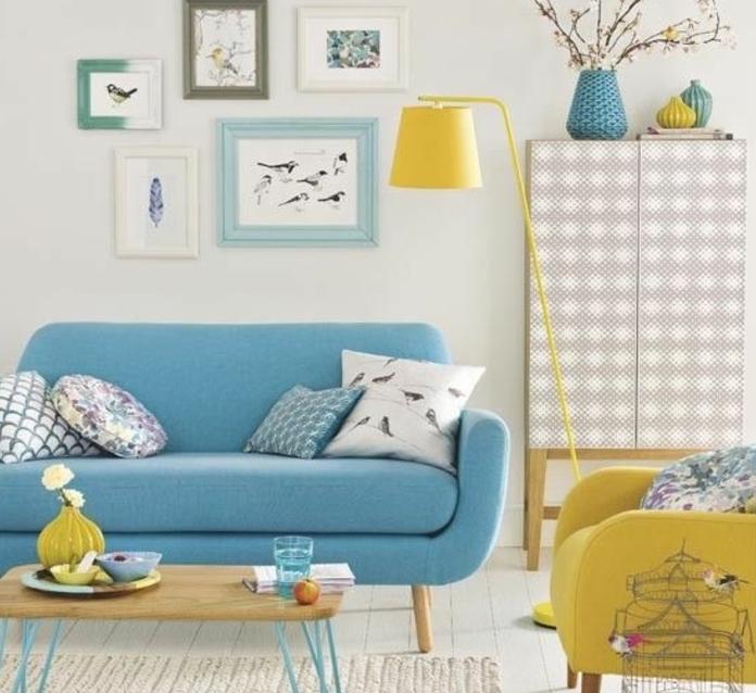 Best Deco Salon Bleu Vintage Images - lalawgroup.us - lalawgroup.us