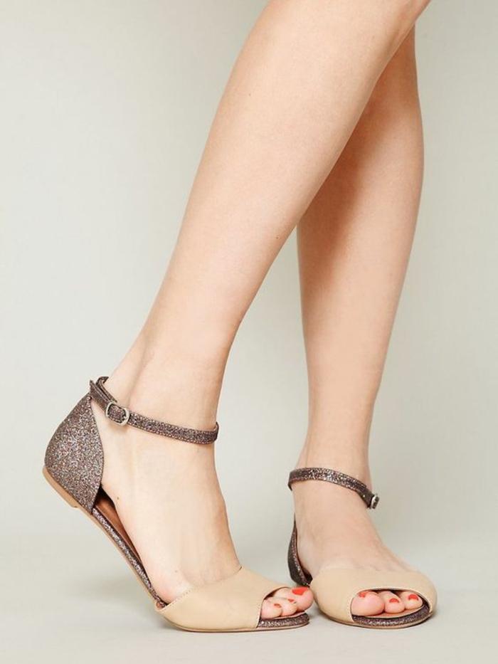 sandale femme sans talon. Black Bedroom Furniture Sets. Home Design Ideas