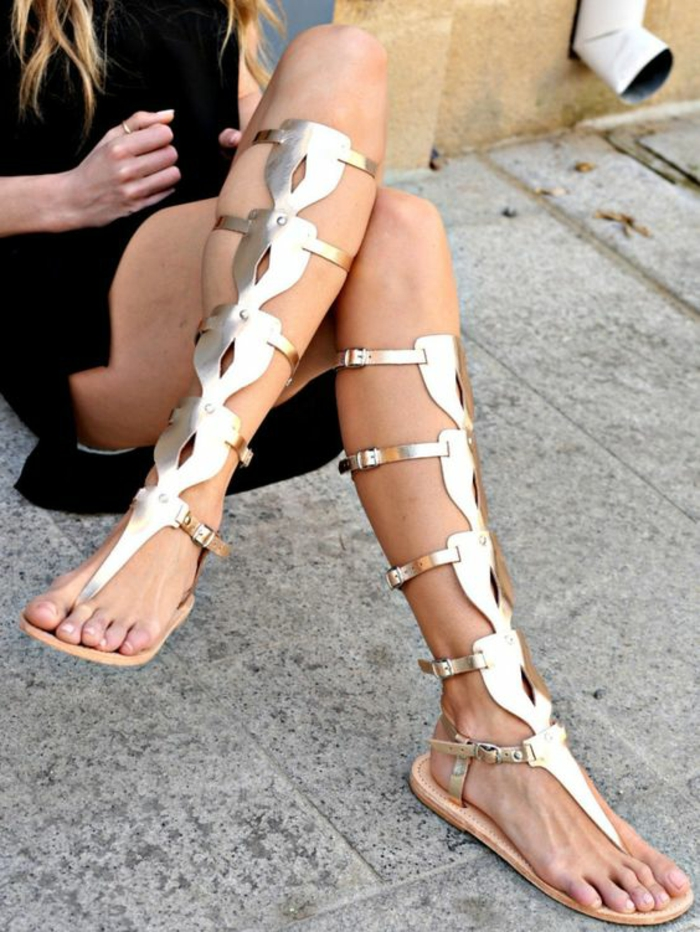 Sandales d'été ouvertes d'été à l'été ( Couleur : Or , taille : 39 )