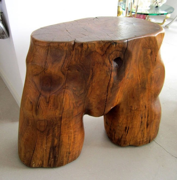 sculpture femme en bois tronc verni oeuvre d art diy