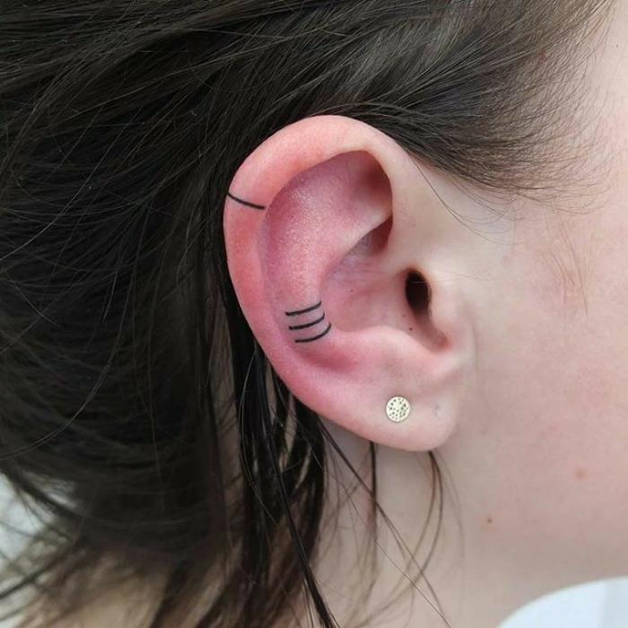 55 des meilleures id es tatouage oreille et sa signification - Signification emplacement tatouage ...