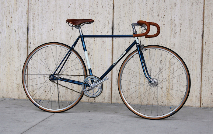 fixie single speed vintage hipster vélos fixi bleu marron