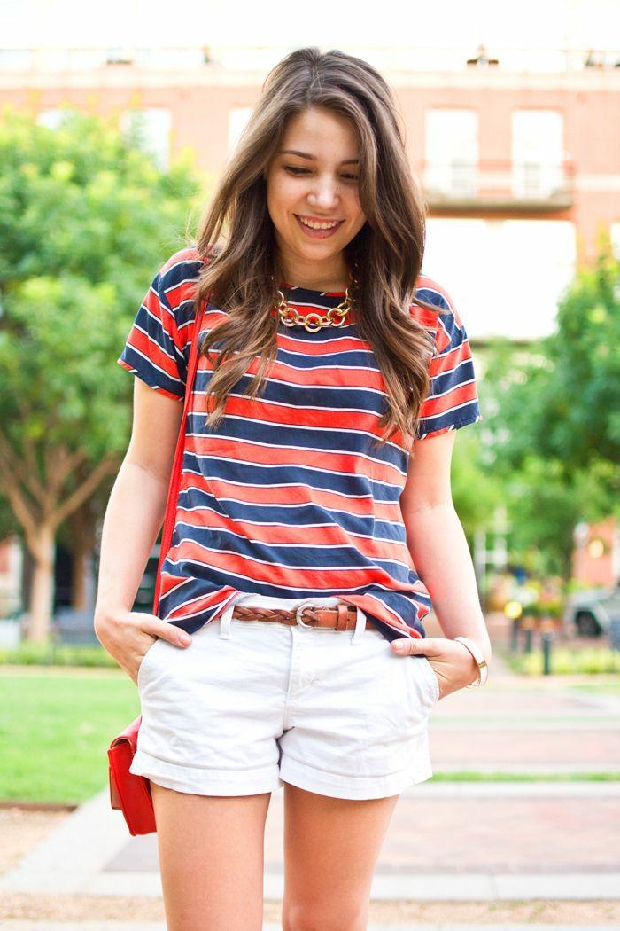 Tenue rouge et blanc cool idée pour s habiller avec style