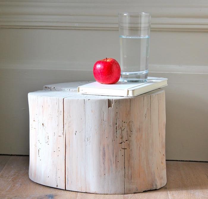 petite table rondin de bois ponce deco naturelle