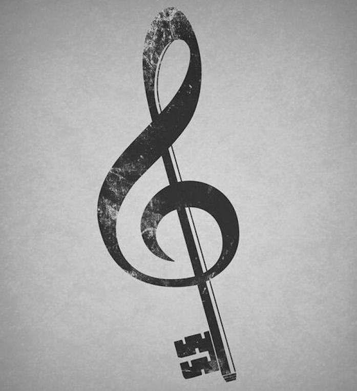 tatouage clef musique idée tattoo design musique