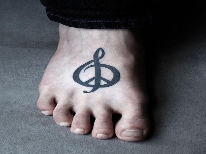 signification clef de sol paix peace sur le pied