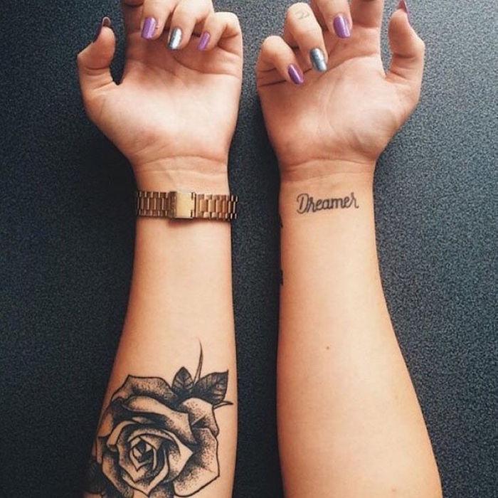 Tatouage rose avant bras femme - Petit tatouage poignet femme ...