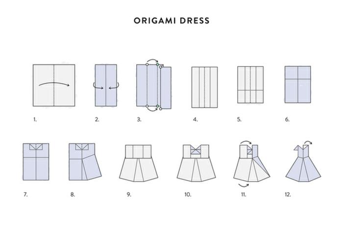 1001 id es originales comment faire des origami facile - Robe en origami ...