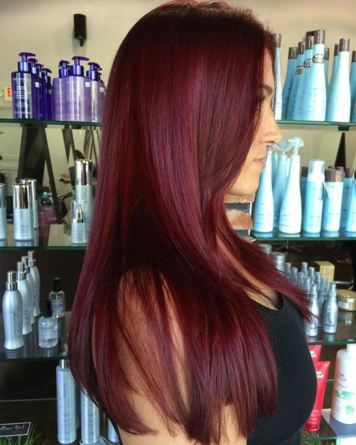 Assez ▷ 1001 idées pour obtenir la couleur de cheveux rouge bordeaux GN49