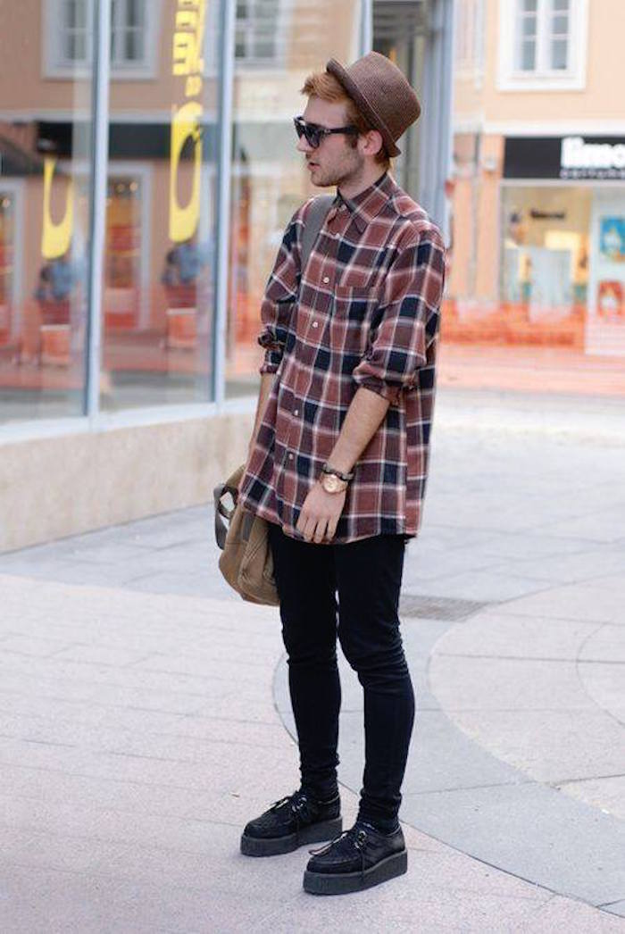 magasin grunge femme homme chemise chapeau jean chaussures semelles style rock hipster