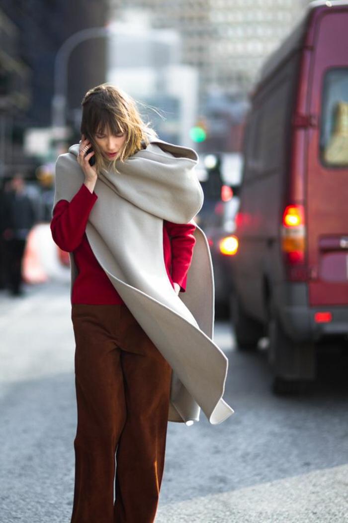 59ae853805c Voir la meilleure tenue pour les cours tenue décontractée hiver Tenue rouge  et blanc – 70 idées magnifiques qui vont vous inspirer ...