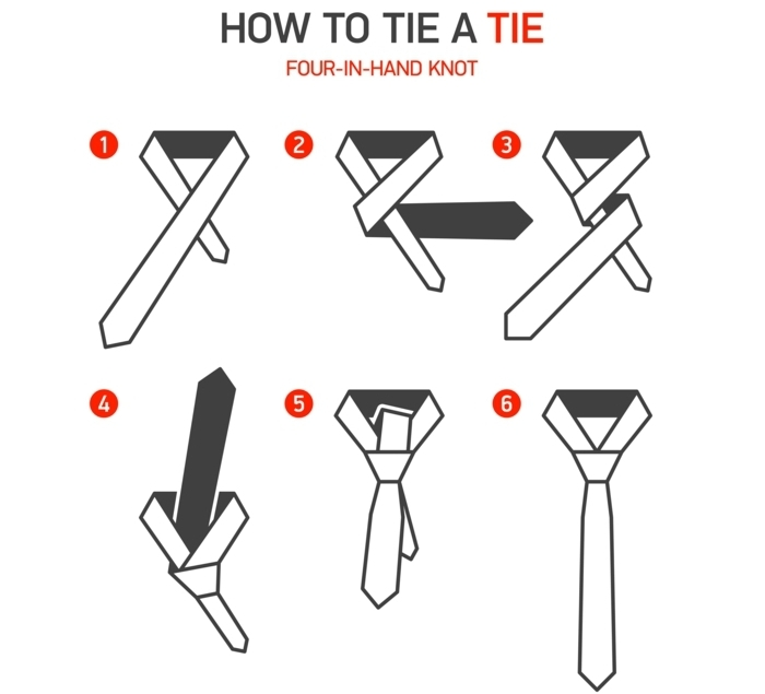 que faire quand on s ennuie, comment nouer une cravate, illustration, guide, nouer une cravate, étapes à suivre, noeud papillon à nouer