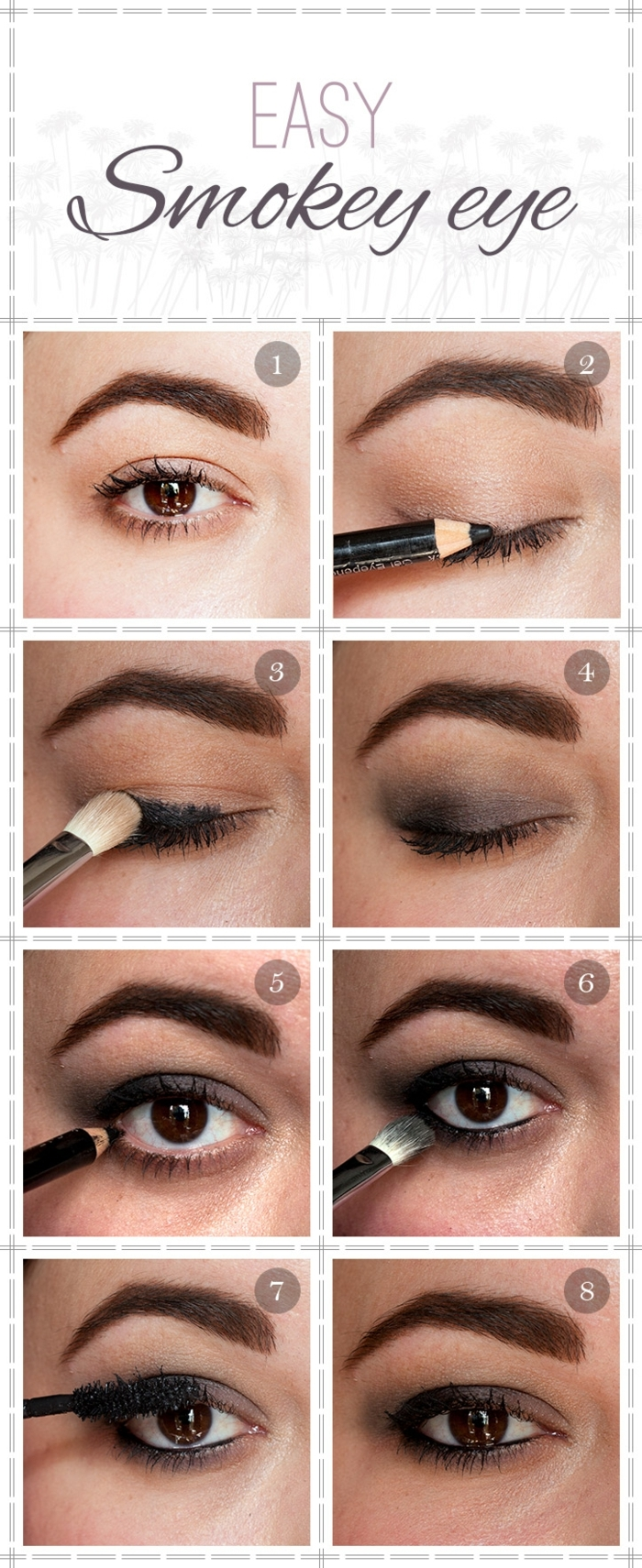 Tutoriel maquillage yeux marrons - Tuto maquillage yeux ...
