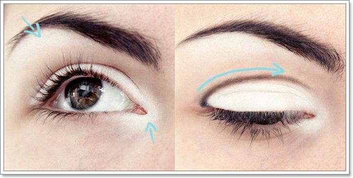 tuto maquillage yeux marrons, comment appliquer les fards à paupières, teinte blanche, mascara noir