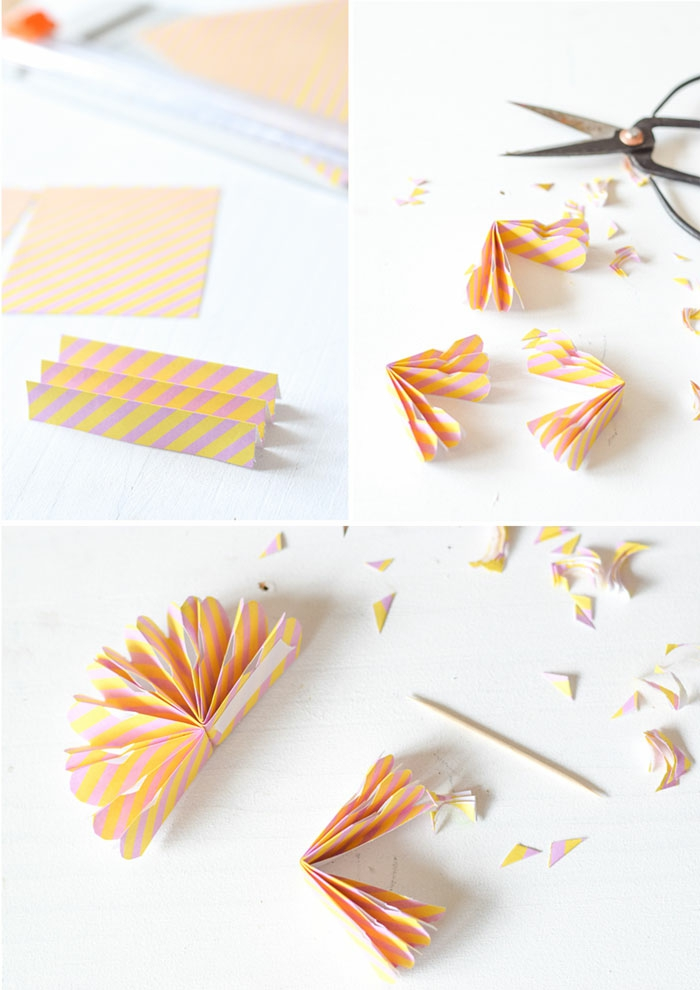 comment faire un mini moulin à vent avec peu de matériel, une décoration de cake en forme de rosace