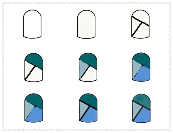 comment faire une manucure, décoration ongles à motifs géométriques, lignes droites, manucure maison