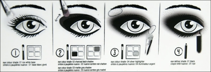 smoky eyes noir, comment réaliser un effet smoky, pinceau smudge, crayon noir, palette de fard à paupières