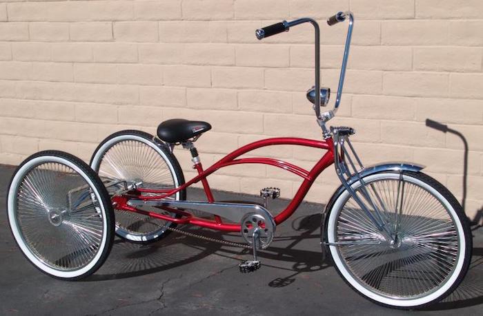 vélo californien beach cruiser chopper 3 roues tricycle
