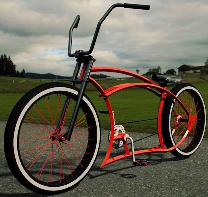 vélo custom original style chopper cruiser design