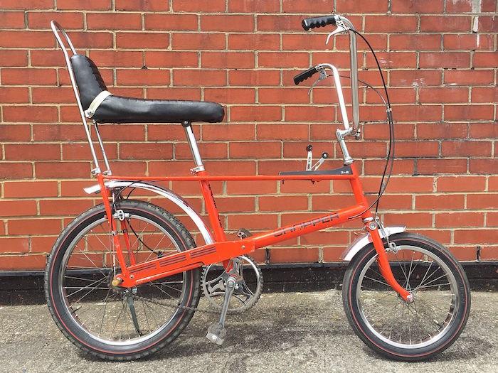 petit chopper vélo siege guidon haut vintage