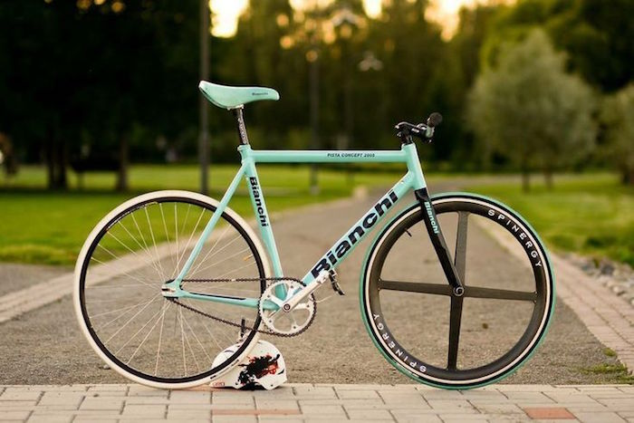 singlespeed pieces fixie magasin cadre piste bianchi fixe single speed roue spinergy batons