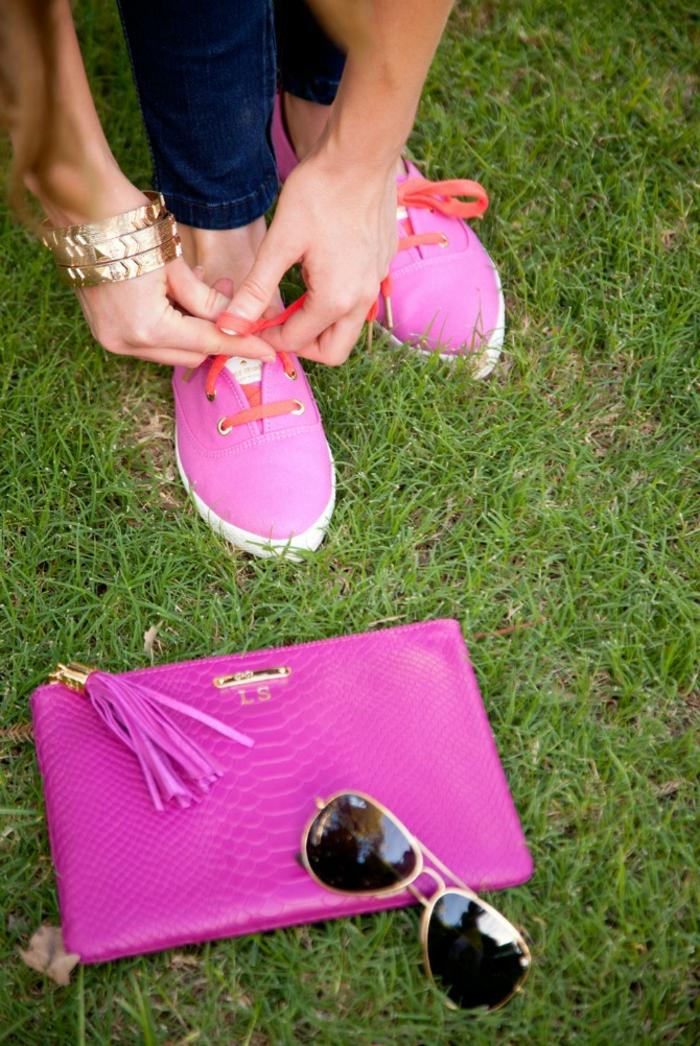 Cool pochette ethnique sac pochette femme cool idée rose néon cool idée combinaison chaussures pochette lunettes