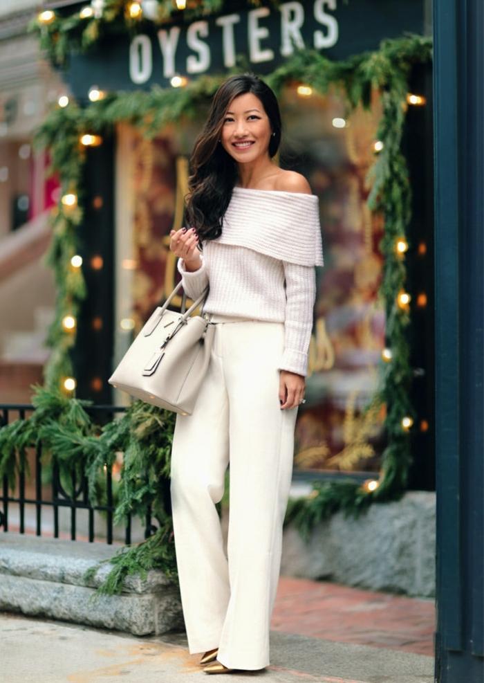 1001 id es pour une tenue avec pantalon blanc fantastique. Black Bedroom Furniture Sets. Home Design Ideas