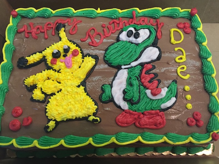 gâteau d anniversaire, dessin pikachu, recette de gateau, génoise au chocolat, crème au chocolat, comment faire un gateau