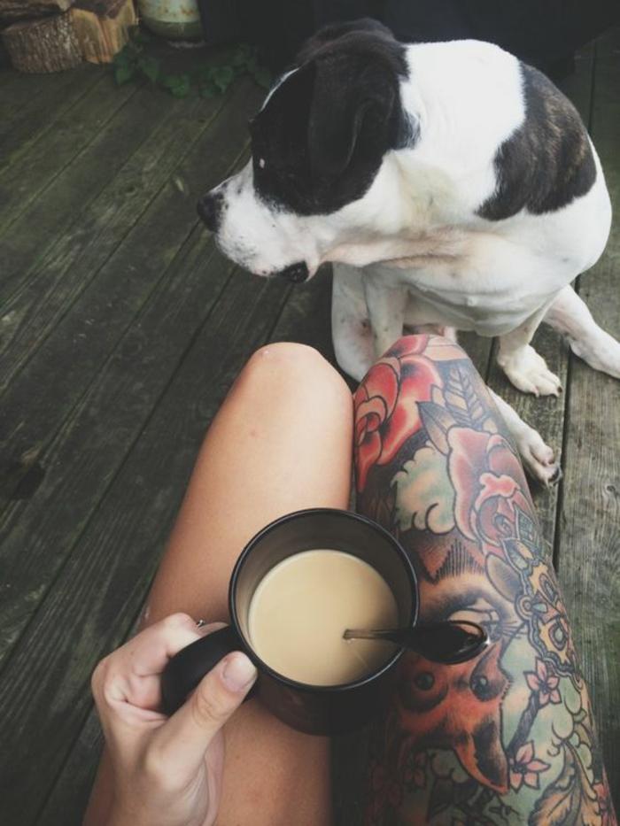 Style de tatouage tatouage ancre old school signification chouette tatouage chien