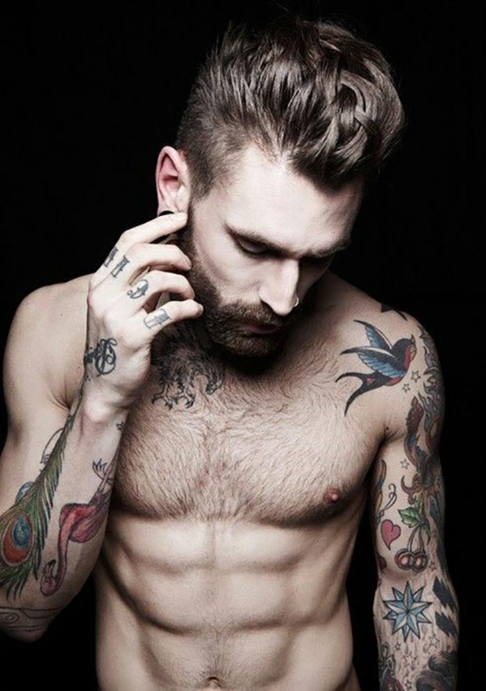 Dessin tatouage old school tatouage style pin up old school homme tattoo