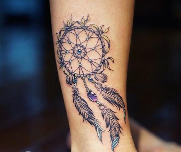 ▷ 1001 + idées de tatouage attrape-rêve symbolique
